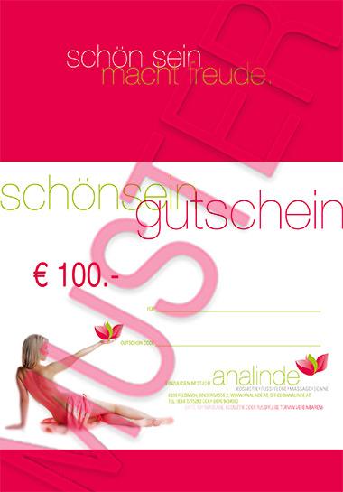 Gutschein € 100.-